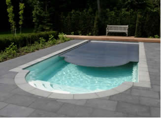 In Ground Roman Swimming Pool With Integrated Roldek Cover