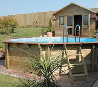 Above Ground Premium Stretched Octagonal Wooden Swimming Pool