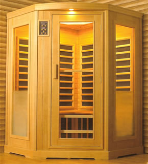 3 Person Corner Helo Infrared Sauna
